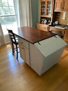 Kitchen Island Made From Antique Feed Bin