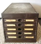 Vintage Rand Industrial Flat File Drawer The Victor Safe And Equipment Co. Usa