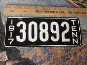 1917 Tennessee License Plate 30892 Nicely Restored Repainted