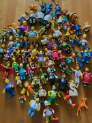 Huge Simpsons Playmates World Of Springfield Toys Lot Of 78 + 4 Family Guy