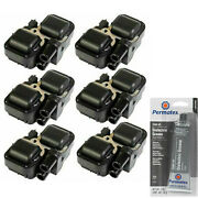 6 Pack Engine Ignition Coil And Grease For 1997-2011 Mercedes-benz 5439cc 5.4l L4