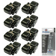 8 Pack Engine Ignition Coil And Grease For 1997-2011 Mercedes-benz 2034cc 2.0l V8