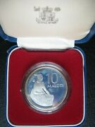 Lesotho 1979 10 Maloti Silver Proof Crown-size Coin By Royal Mint Cased