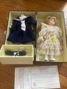 Lasting Impressions Companion Collection Porcelain Doll With Case And Clothing
