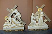 + Nice Older Set Of 14 Stations Of The Cross + Ahb78 Chalice Co.