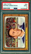 1966 67 Topps 84 George Armstrong Pop 4 Psa 9 Mint