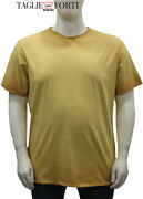 Maxfort Yellow Crew Neck T-shirt Plus Sizes For Men. Big Size. Big And Tall