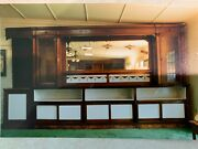 Antique Bar Back And Side Display Cabinets