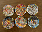 6 Mcdonald's Collector Plates Bill Bell - Limited Edition - Euc