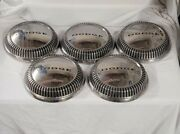 🚗5 Vintage 60-61 Max Wedge Dodge Plymouth Chrysler Dog Dish Hubcaps Center Caps