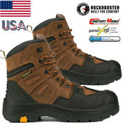 Rockrooster Woodland Collection Menand039s Composite Toe Waterproof Work Boots 6 Inch