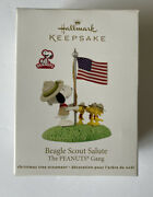 Beagle Scout Salute Retired Hallmark Ornament Peanuts Gang 2012 Snoopy Flag