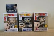 Autographed Signed Funko Pop Nwo Chase And Limited Set Hogan, Nash And Hall