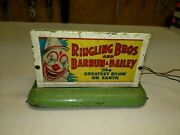 American Flyer Ringling Bros Whistling Billboard Lighted Tested, Works