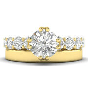 2ct G-si1 Diamond Vintage Engagement Ring 18k Yellow Gold Any Size