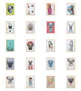 Ambesonne Pug Dog Wall Art With Frame For Bathrooms Living Room Dorms
