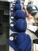 New York Mets New Era Authentic On-field 59fifty Fitted Blue Lot Of Ten Hats