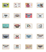 Ambesonne Pug Dog Wall Art With Wide Frame For Bathrooms Living Room