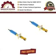 Two Bilstein 4600 Series 24-197656 X2 46mm Monotube Front Shock Absorber