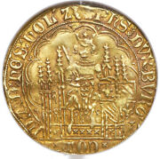 1419-67 Ad Philippe Le Bon Gold Chaise Dand039or Belgium Ngc Vf-30 Golden Red Patina