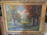 Antique Landscape Oil Painting By William Emerson