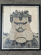 Seymour Chwast Original Work Not A Print - Nixon Fortress - Pen And Ink
