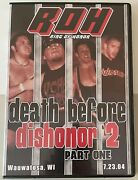 Roh Death Before Dishonor 2 Part One 2004 Dvd Ring Of Honor Wwe Aew Nxt Tna Pwg