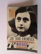 Signed Autographed Softcover Book Anne Frank Remembered - Miep Gies