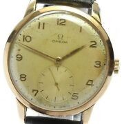 Omega Antique Cal.265 37mm Big Case Gold Dial Hand Winding Menand039s_628340