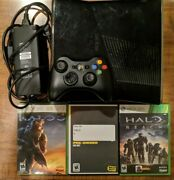 Xbox 360 S Slim 250gb Console Bundle With 3 Halo Games + Oem Controller