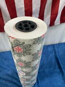 """Large Commercial Roll Christmas Gift Wrap 24"""" W And Over 400 Ft. Very Beautiful"""