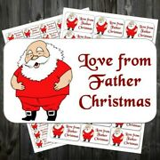 21 Christmas Gift Sticky Labels Stickers Tags Love From Father Christmas Acf