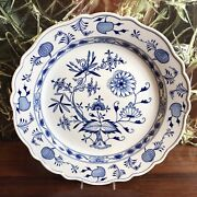 Meissen Onion Pattern,classy Antique Large Wall Plate/serving Plate Ø 15 11/16in