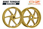 Oz Gass Rs-a Gold Forged Alloy Wheels To Fit Ducati 821 Hypermotard 13-15