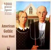 1000 Piece Jigsaw Puzzle American Gothic By Grant Wood Made In Uk Mint Cond