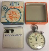Vintage Smiths 1/100th Minute Pocket Stop Watch Boxed With The Booklet Rare