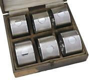 Antique Sterling Silver - Set Of 6 A Buckley Ltd Napkin Rings - Boxed - 1924