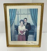 Ronald Reagan Autographed Picture Republican Presidential W/ Nancy Picture Frame