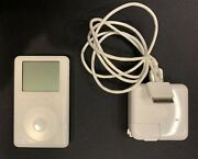 Ipod Classic 3rd Generation 15gb - Works -with Adapter And Firewire Cable Bundle