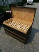 Antique Circa 1890s Signed Louis Vuitton Steamer Trunk With Trays