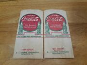 Vintage Lot Of 2 Coca Cola Dry Server The Pause That Refreshes Thomasville Ga