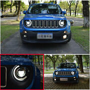 For Jeep Renegade 2015-2018 Led Headlight Assembly Hi/lo Beam Drl Half Moon 2pc