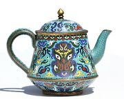 A Chinese Cloisonnandeacute Enamel Teapot And Cover