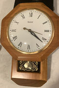 Vintage United Metal Goods Mfg Co Model No. 59 Electric Wall Clock Working