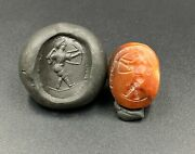 Old Bead Ancient Jewelry Artifacts Antiquities Roman Agate Intaglio Signet Seal