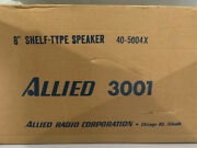 New Vintage Allied Radio Corp 3001 Single Speaker Made In Usa New In Box Rare
