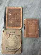 Antique School Books Geography/english Lot Of 3 Books