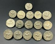 16 Ancient Greek Indo Sycthian Silver Old Coins Persian Nomadic Collectables