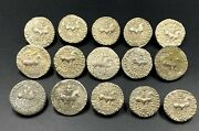 15 Ancient Greek Indo Sycthian Silver Old Coins Lot Persian Nomadic Antiquities
