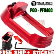 Tyrant Designs Billet 6061 Aluminum Red Magwell For P80 Pf940c Compact Mag Usa